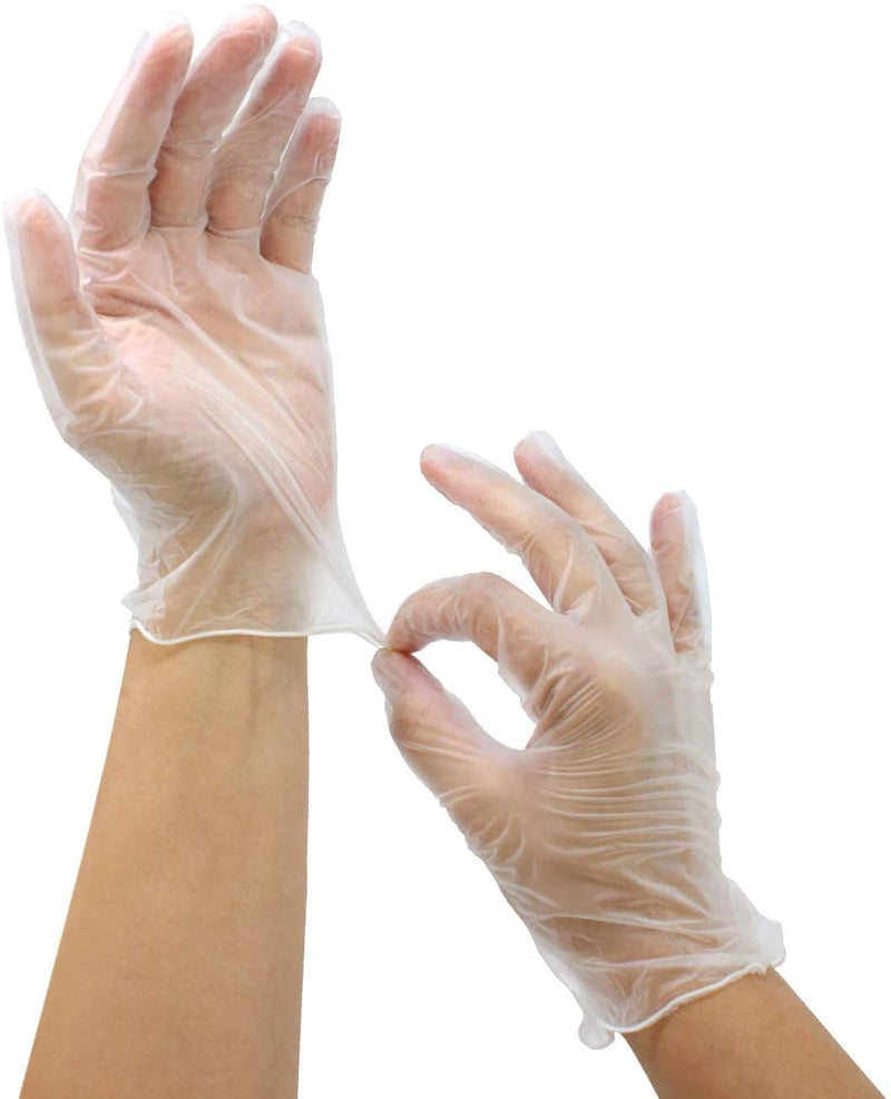 Disposable Vinyl Gloves | Multi-Purpose, Powder Free, Latex Free, Food Preparation Gloves Extra Large –100 per Box