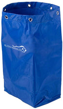 Janitorial Cart Replacement Bag | Commercial Cleaning Cart Bag for Hotel, Laundry, Towels, Housekeeping