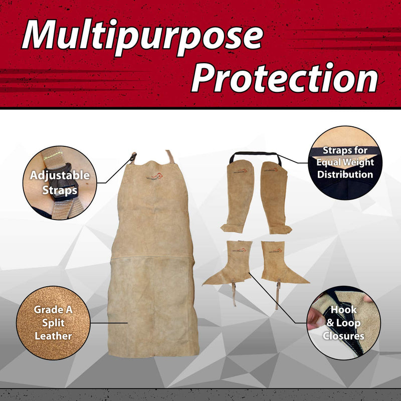 Welders Leather Protection Kit With 5 Piece Full Body Protection