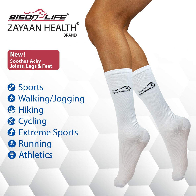 ZAYAAN HEALTH Sports Compresion Socks (15-20 mm/Hg) Pack