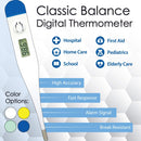 Classic Balance Digital Thermometer High Accuracy Fast Response Rigid Sensor Tip