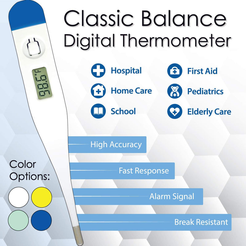 ZAYAAN Health Classic Balance Digital Thermometer High Accuracy Fast Response Rigid Sensor Tip