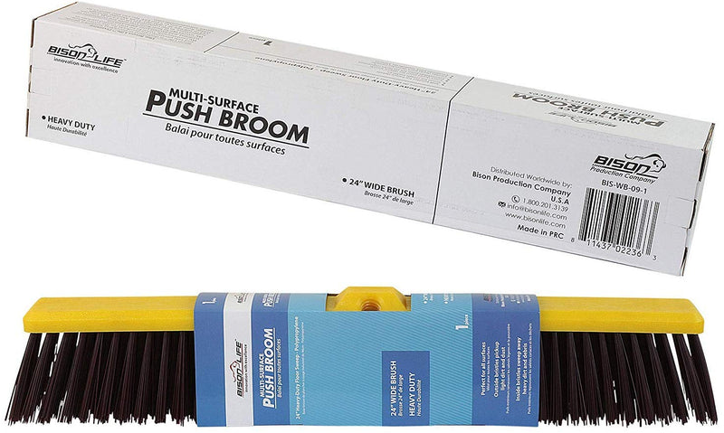 Multi Surface Push Broom - Coarse Polypropylene and Polystyrene Heavy-Duty Floor Sweep Broom