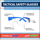 TACTICAL | Clear Lens Color Temple Variety Safety Glasses | Fits Youth and Kids