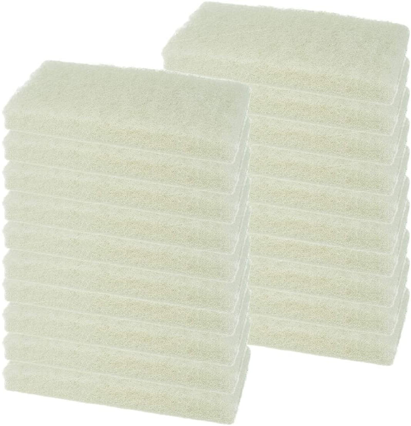 Light White Cleaning Pad | Multipurpose Household Scrub, Non-Scratch for Delicate Surfaces