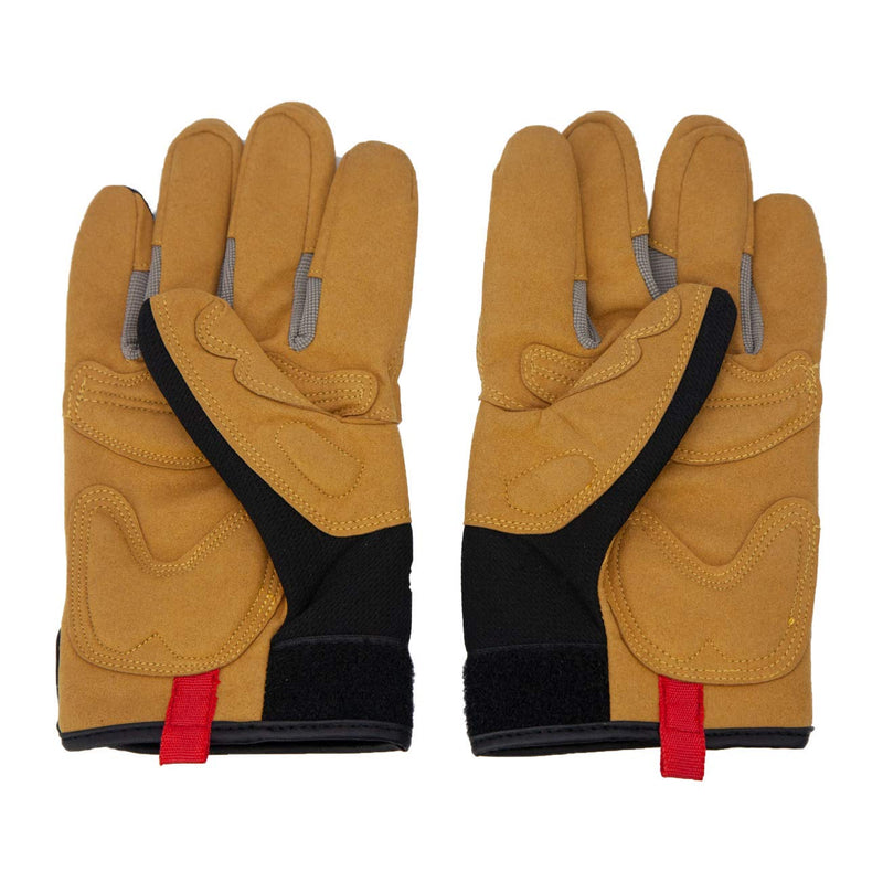 Reinforced Leather Gloves | Suede Leather Padding, Hook and Loop Wrist Strap, Breathable Comfort