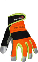 Reflect Pro Gloves | High Visibility, Hook and loop Wrist Strap, Reflective Fingertips
