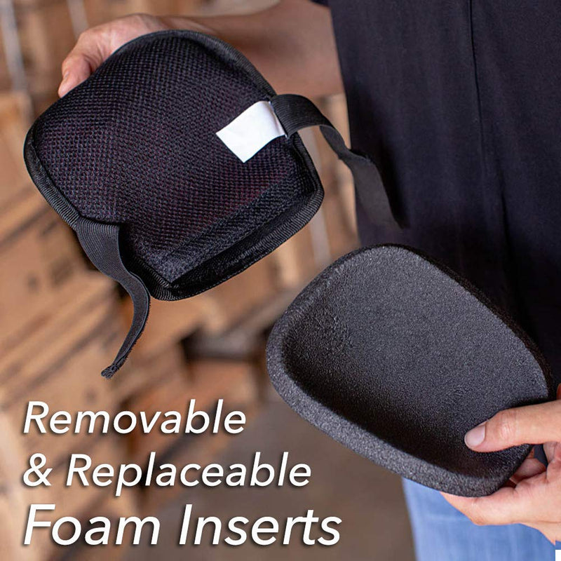 Original Washable Home & Gardening Knee Pads with Removable and Replaceable Foam Pad Insert, Easy Fit with Adjustable Hook and Loop Closure Straps