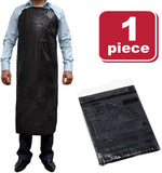 SAFE HANDLER PVC Apron | Smooth Finish to Prevent Bacterial Growth, Comfortable, Easily Adjustable, Waterproof Material, BLACK