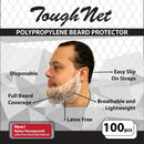 ToughNet, White Latex Free Polypropylene Beard Protector