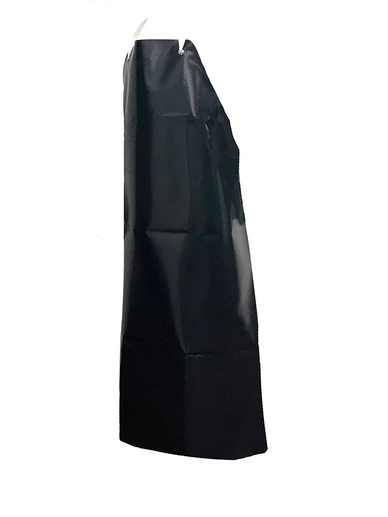 Heavy Duty Vinyl, Industrial Cleaning, Water Resistant, Extra Long, Apron, Black