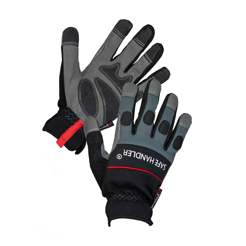 Tough Pro Grip Gloves | Knuckle Guard, Thick Protection, Non-Slip Rough Grip