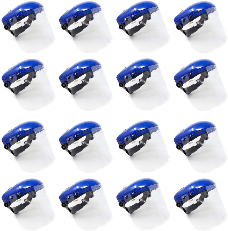 Safety Headgear with Clear Polycarbonate Face Shield