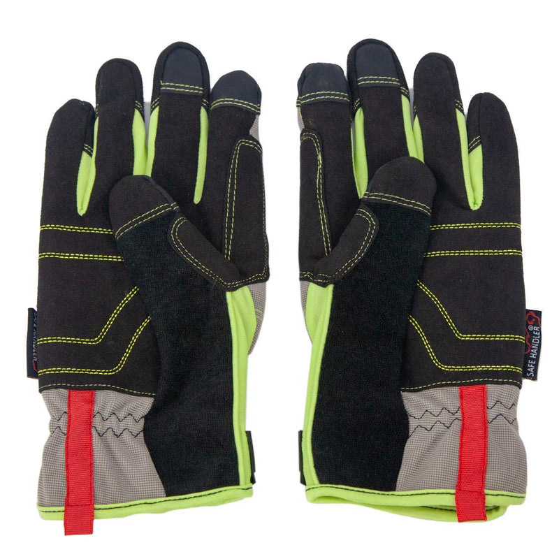 High Visibility Tech Gloves | Touch Screen Compatible, High Visibility, Breathable Comfort, Fitted Wrists, Reinforced Palm & Knuckle
