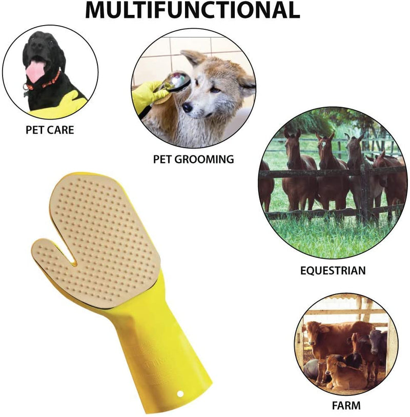 Kleen Mitt Pet Mitt Refill  | One Size Fits Most, Studded Bristle Pad for Massage