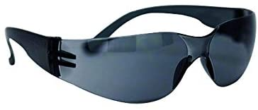 KEYSTONE | Color Lens Black Temple Grey and Black Safety Glasses | Fits Adult and Youth