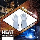 "TIG Welding Gloves | Heat Resistant for Oven, Grill, Fireplace, Stove, TIG MIG Welder, BBQ, 6"" Cowhide Gauntlet Gloves"