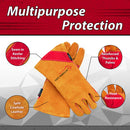 Prime Welding Gloves with Kevlar Thread Protection | Reinforced Thumb and Palm, Heat Resistant, Animal Handling Gloves