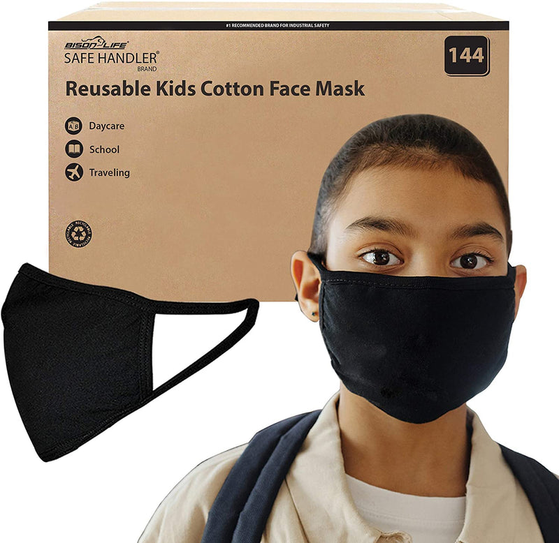 Reusable 2 Ply Cotton Face Mask, Washable Mask, Protective, Soft Breathable Jersey Cloth, Black