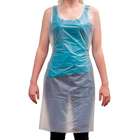 Disposable Food Handling Light Poly Aprons - One Size Fits Most