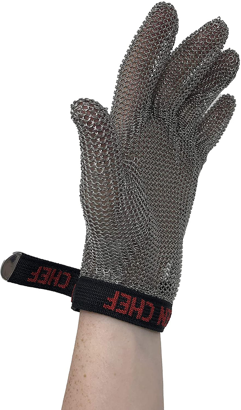 Stainless Steel Cut Resistant Gloves | Heavy Duty Metal Gloves (Pack of 1)