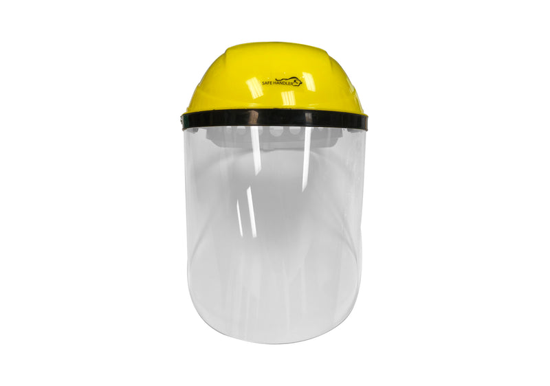 Hard Visor Face Shield | Reusable Full Facial Protection, Eyes, Nose & Mouth Coverage | Single Crown Headgear | Lightweight