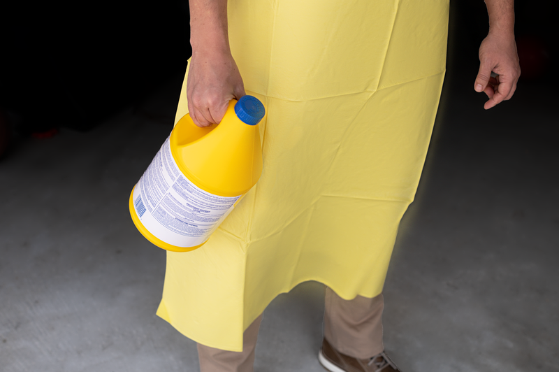 Non-woven Polypropylene Chemical Resistant Apron  | Yellow