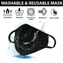 Adult 3 Ply Reusable Cotton Face Mask | Center Seam Adult Washable Mask for Men or for Women, Protective Face Cover, Soft Breathable Jersey Fabric