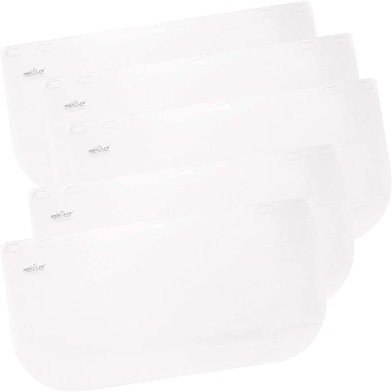 Replacement Face Shields – Clear Polycarbonate Visor, Face Shield Replacements for Safety Headgear with Face Shield