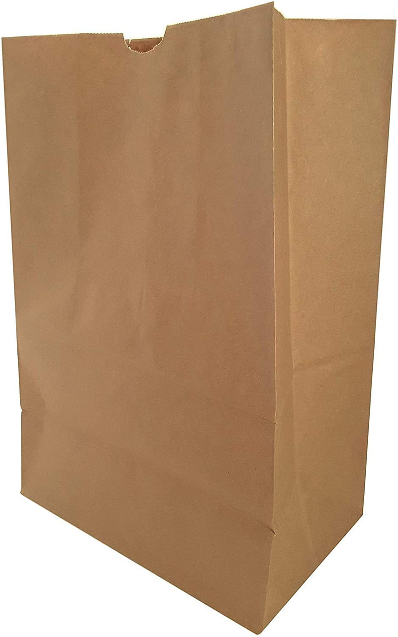 "Kraft Paper Disposable Bag | Brown Paper Grocery Bag, Sack for Recycling, Recyclable, 12"" x 7"" x 17"""
