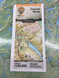 French River topographic map by Backroad Mapbooks