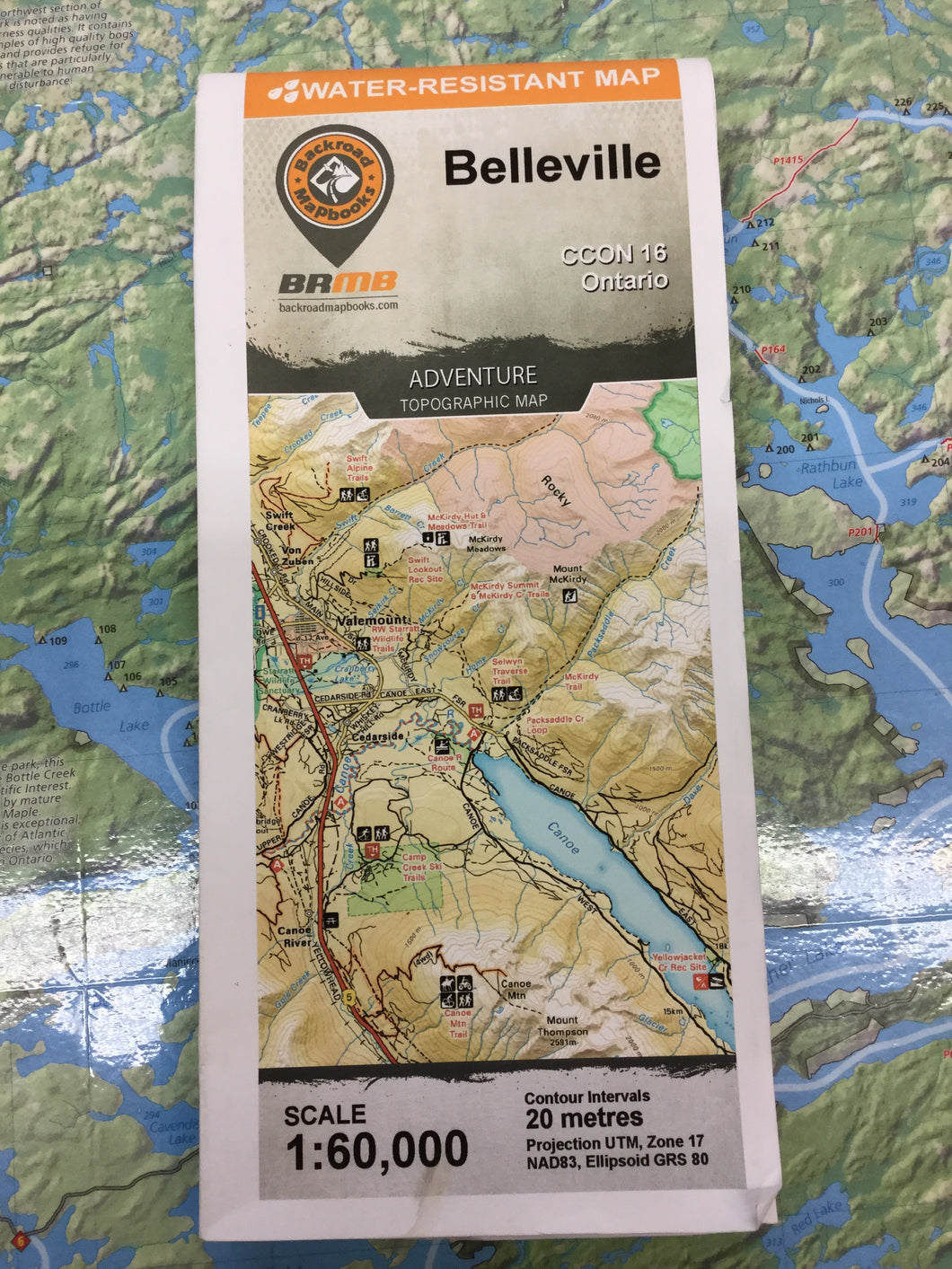Belleville topographic map by Backroad Mapbooks