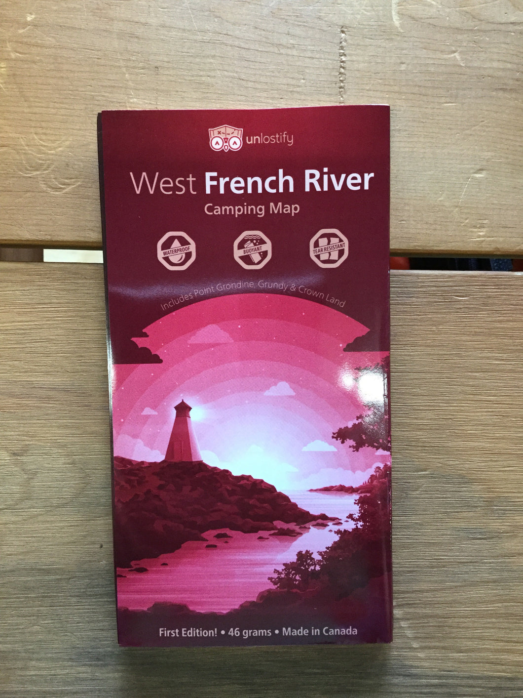 West French River Waterproof Map by Unlostify