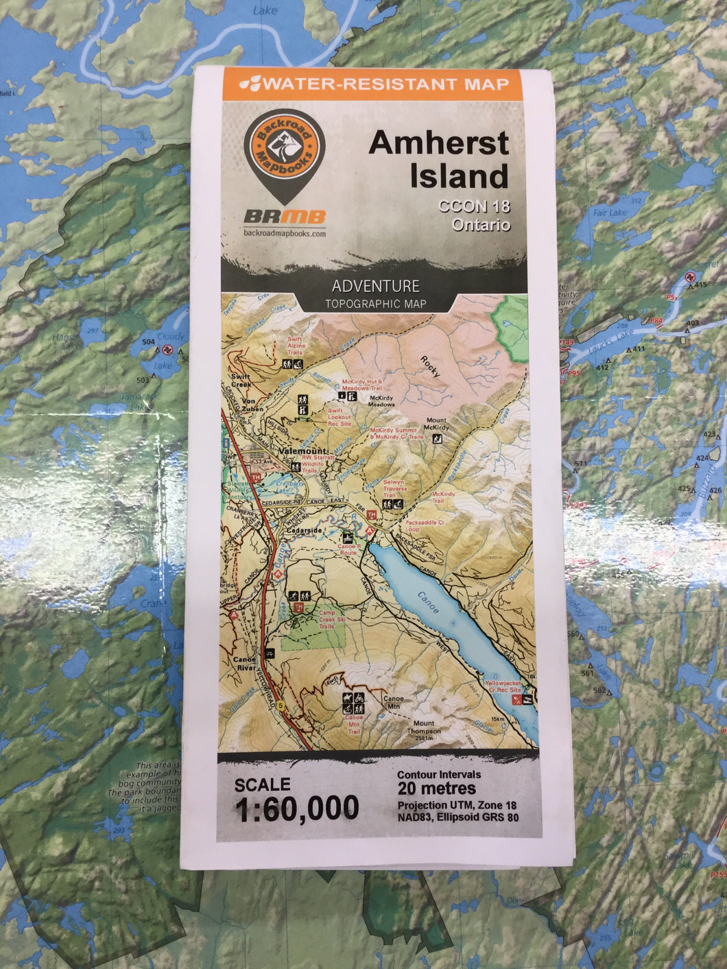 Amherst Island topographic map by Backroad Mapbooks