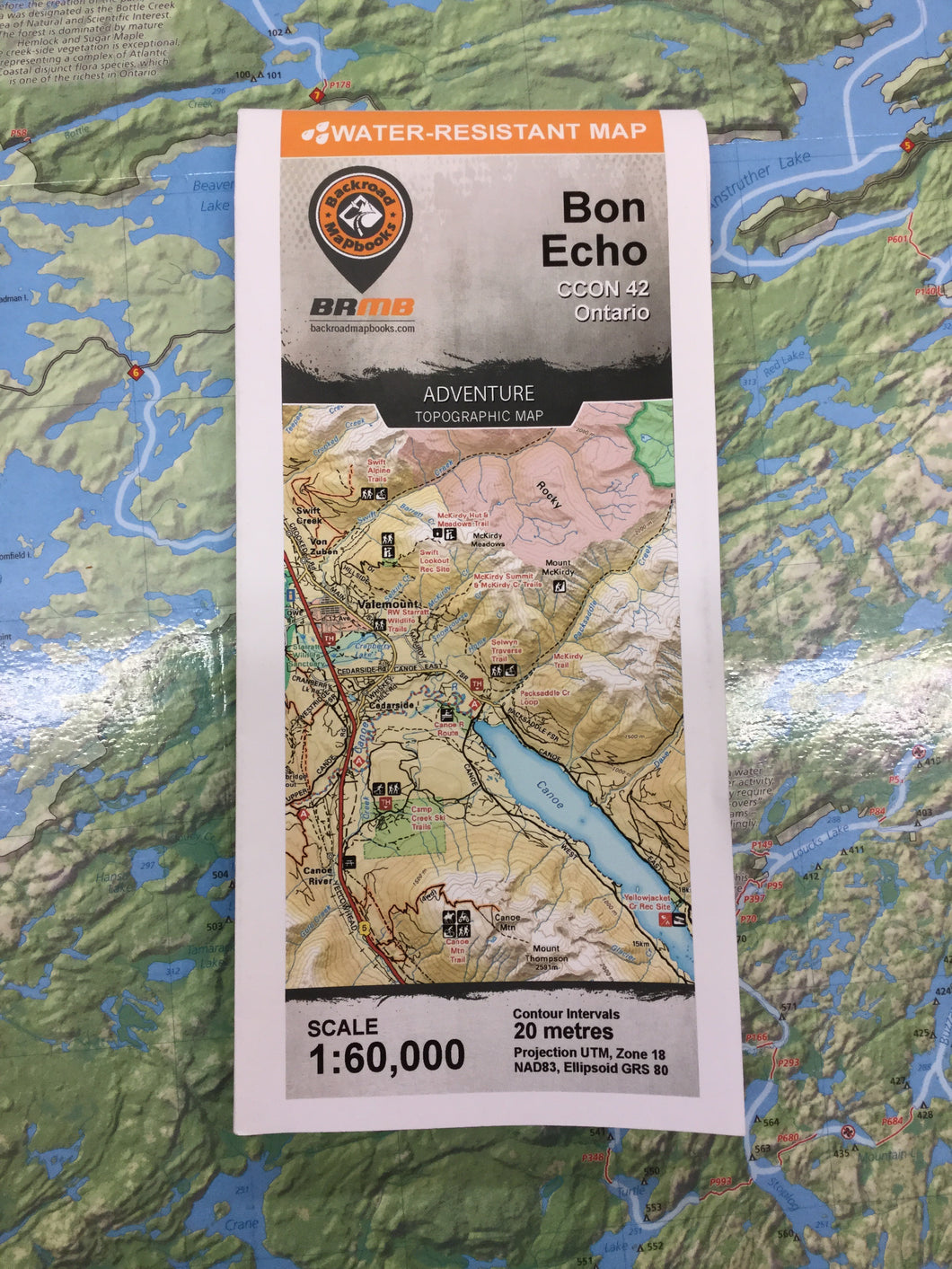 Bon Echo Topographic Map by Backroad Maps