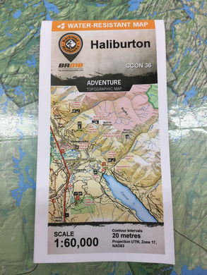 Halliburton Topographic Map by Backroad Mapbooks