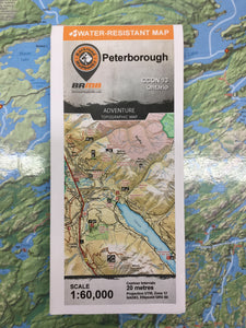 Peterborough topographic map by Backroad Mapbooks