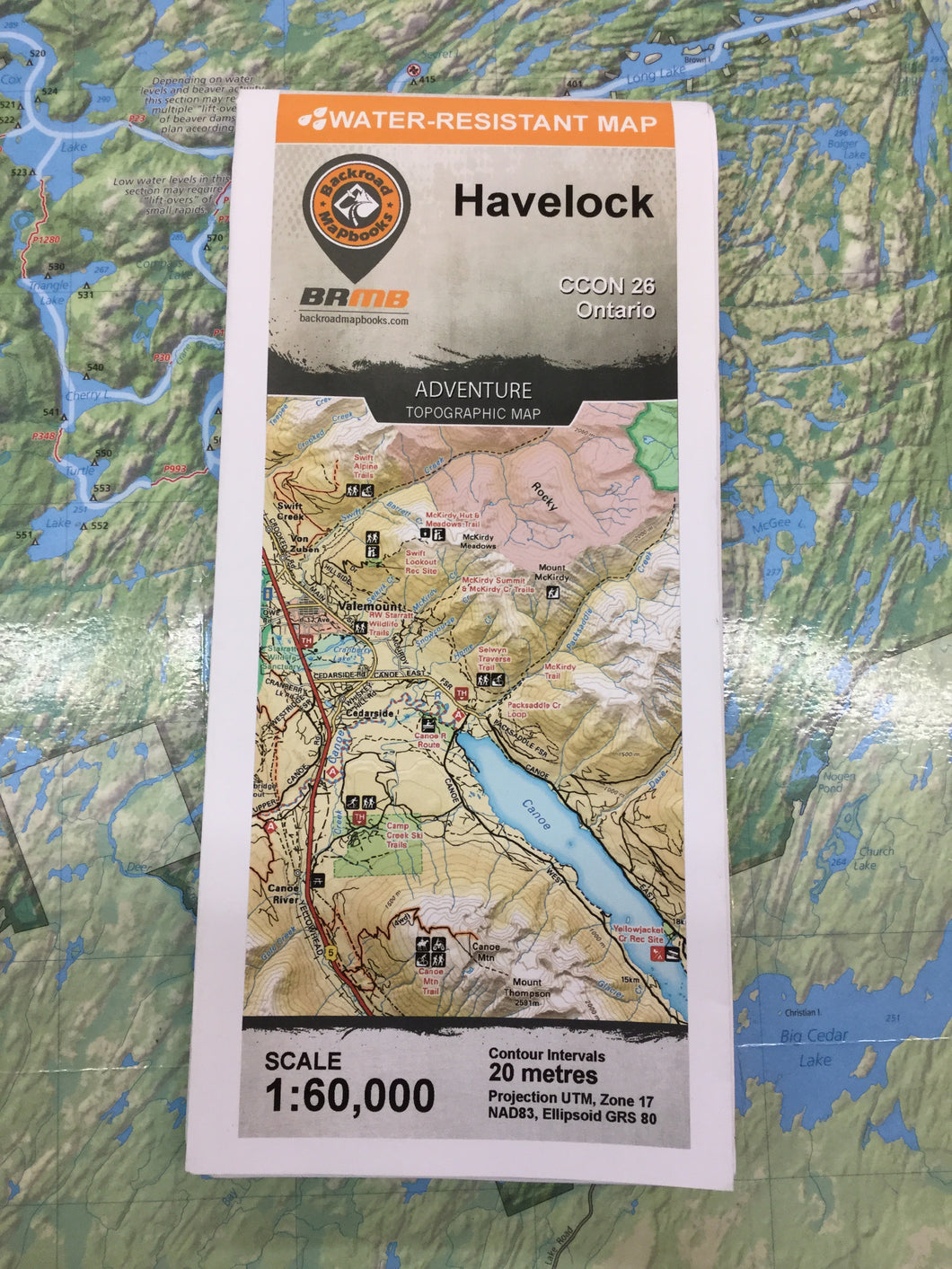 Havelock topographic map by Backroad Mapbooks