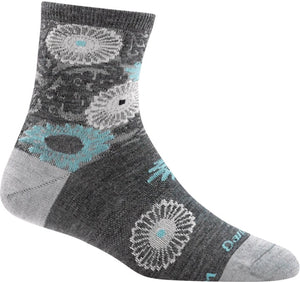 Women's Floral Shorty Lightweight Lifestyle Sock by Darn Tough
