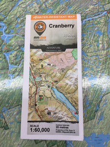 Cranberry region topographic map by Backroad Mapbooks