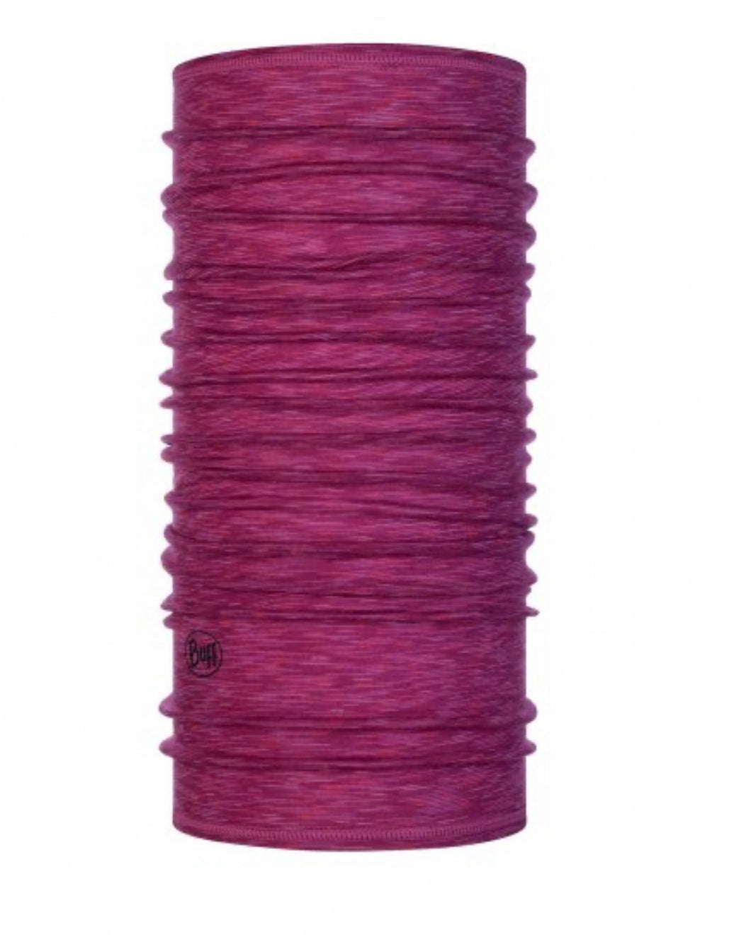 Lightweight Merino Wool Buff Raspberry Multistripes