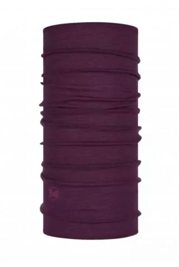 Lightweight Merino Wool Purplish Multi Stripes by Buff