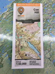 Hill Topographic Map.Coe Hill Topographic Map Adventure Outfitters