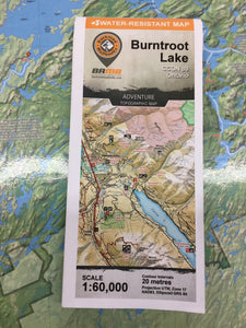 Burntroot Lake topographic map by Backroad Mapbooks