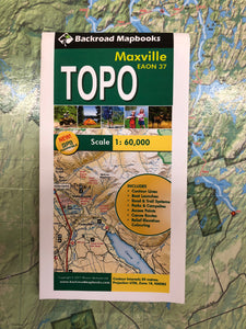 Maxville TOPO Map by Backroad Mapbooks