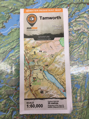 Tamworth topographic map by Backroad Mapbooks