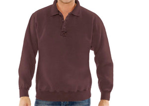 20 oz Fleece 3 Button Polo Sweatshirt by Redwood Classics