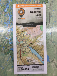 North Opeongo Lake topographic map by Backroad Mapbooks