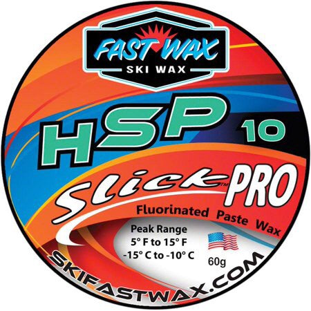 HSP 10 Slick Pro Fluorinated Paste Wax by Ski Fast Wax