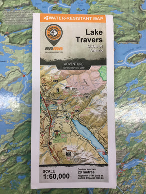 Lake Travers topographic map by Backroad Mapbooks